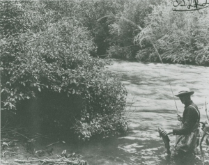 """Man Fishing"" Logan River, Utah ca. 1900 (courtesy of Special Collections and Archives, Utah State University)"